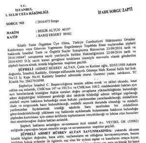 Court verdict on Ahmet Altan's arrest