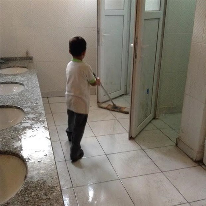 school bathrooms. Amid The Purge Of Tens Thousands Teachers In Turkey\u0027s Post-coup Era, A Student Gaziantep Was Documented Cleaning Floor School Bathroom Due Bathrooms ,