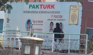 A Pakistani student walks at the private PakTurk International Schools and Colleges in Islamabad on November 16, 2016. Pakistan has ordered the deportation of 130 teachers affiliated with the alleged mastermind of an attempted coup in Turkey, officials said on November 15, as Turkish President Recep Tayyip Erdogan was to arrive for a visit. / AFP PHOTO / AAMIR QURESHI