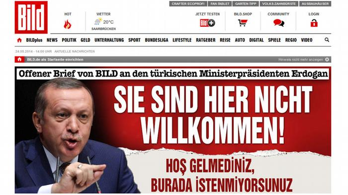 turkey blocks german bild website after criticism of deniz. Black Bedroom Furniture Sets. Home Design Ideas