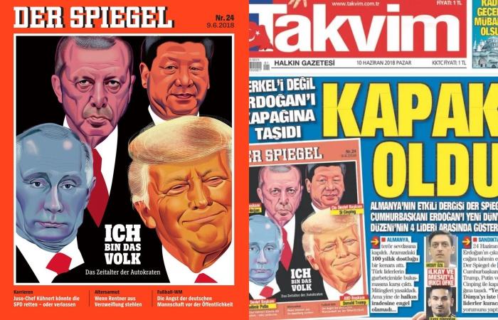 Erdogan Brags About Der Spiegel Cover Misrepresented By Pro Gov T