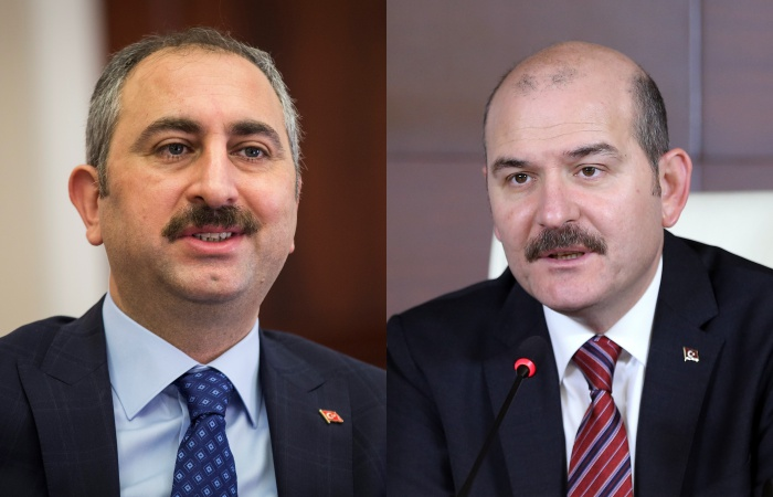 Image result for Justice Minister Abdulhamit Gul and Interior Minister Suleyman Soylu
